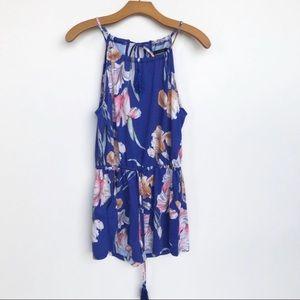 MinkPink Blue Floral Romper